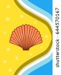 beautiful summer poster of a... | Shutterstock .eps vector #644570167