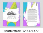 abstract vector layout... | Shutterstock .eps vector #644571577