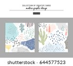collection of creative... | Shutterstock .eps vector #644577523
