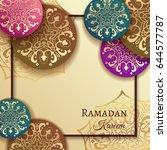 ramadan kareem celebrate... | Shutterstock .eps vector #644577787