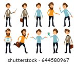 character set with different... | Shutterstock .eps vector #644580967