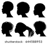 afro american young woman face... | Shutterstock .eps vector #644588953