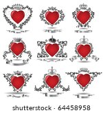 crown heart valentine | Shutterstock . vector #64458958