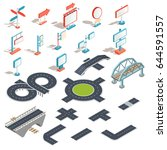 set of vector isometric... | Shutterstock .eps vector #644591557
