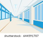 interior of school hall in flat ... | Shutterstock .eps vector #644591707