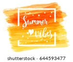 watercolor imitation brushed... | Shutterstock .eps vector #644593477