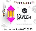 illustration of ramadan sale... | Shutterstock .eps vector #644595253