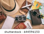 travel and vacation concept.... | Shutterstock . vector #644596153