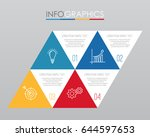 modern info graphic template...   Shutterstock .eps vector #644597653