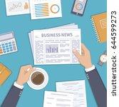 business news. businessman... | Shutterstock . vector #644599273