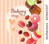 sweet shop vector background... | Shutterstock .eps vector #644601547