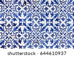 traditional ornate portuguese... | Shutterstock . vector #644610937