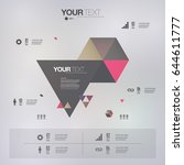 beautiful abstract infographic... | Shutterstock .eps vector #644611777
