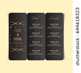 restaurant menu design. | Shutterstock .eps vector #644618323