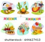 festa junina isolated mini...   Shutterstock .eps vector #644627413