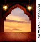 ramadan kareem background... | Shutterstock . vector #644633293