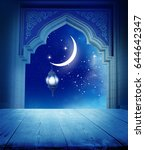 ramadan kareem background.... | Shutterstock . vector #644642347