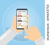 used cars app. | Shutterstock .eps vector #644653753