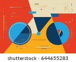 modern design bicycle art.... | Shutterstock .eps vector #644655283