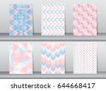 set of pattern retro style... | Shutterstock .eps vector #644668417