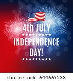 independence day in usa... | Shutterstock .eps vector #644669533
