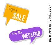 modern vector badges sale... | Shutterstock .eps vector #644671387