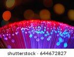 blurred led screen closeup.... | Shutterstock . vector #644672827