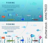fishing banner. fishing concept....   Shutterstock .eps vector #644675023