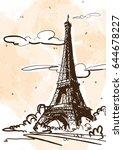 beautiful vector illustration... | Shutterstock .eps vector #644678227