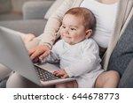 closeup portrait of little boy... | Shutterstock . vector #644678773