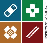 band icons set. set of 4 band... | Shutterstock .eps vector #644683567