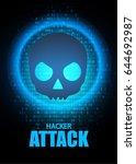 ddos attack. stop hacker... | Shutterstock .eps vector #644692987