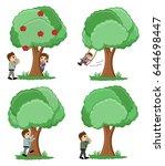 cartoon nature concepts | Shutterstock .eps vector #644698447
