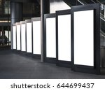 blank mock up light box set... | Shutterstock . vector #644699437