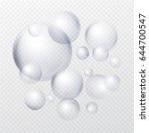 soap bubbles isolated on... | Shutterstock .eps vector #644700547