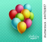 birthday background. vector... | Shutterstock .eps vector #644702857