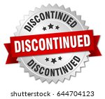 discontinued round isolated... | Shutterstock .eps vector #644704123