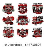 a set of vector illustration on ... | Shutterstock .eps vector #644710807