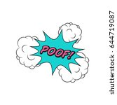 comics style speech bubble poof ... | Shutterstock .eps vector #644719087