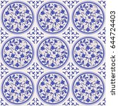 gorgeous seamless pattern of... | Shutterstock .eps vector #644724403