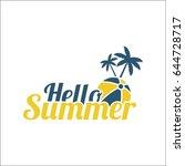 hello summer inscription | Shutterstock .eps vector #644728717