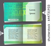 brochure template with abstract ... | Shutterstock .eps vector #644731933