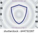 shield  badge  vector... | Shutterstock .eps vector #644732287