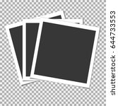 set of photo frame with shadow... | Shutterstock .eps vector #644733553