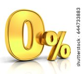 gold zero percent or 0  ... | Shutterstock . vector #644733883