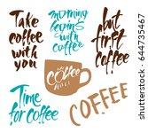 coffee break. design elements... | Shutterstock .eps vector #644735467