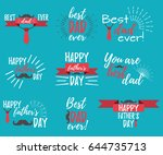 happy father's day banner and... | Shutterstock .eps vector #644735713