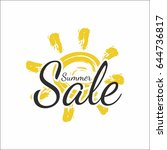 summer sale banner with sun | Shutterstock .eps vector #644736817