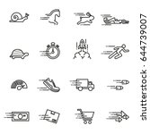 speed   icon set series design... | Shutterstock .eps vector #644739007
