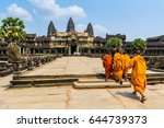 amazing view of angkor wat is a ... | Shutterstock . vector #644739373